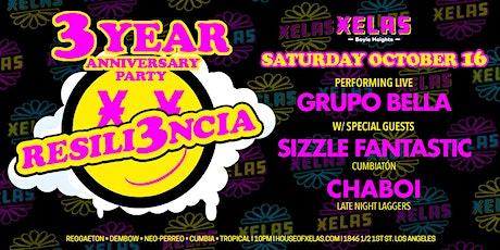 XELAS presents RESILI3NCIA 3 Year Anniv.  Sat 10.16.21 w/ LIVE MUSIC & DJs tickets