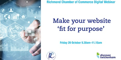 Chamber Digital Webinar – making your website 'fit for purpose'