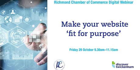 Chamber Digital Webinar - making your website 'fit for purpose' tickets