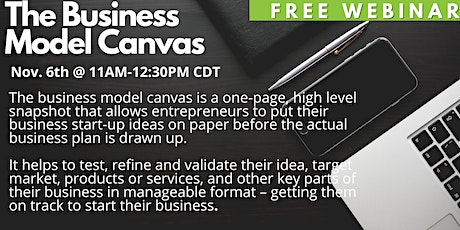 The Business Model Canvas tickets