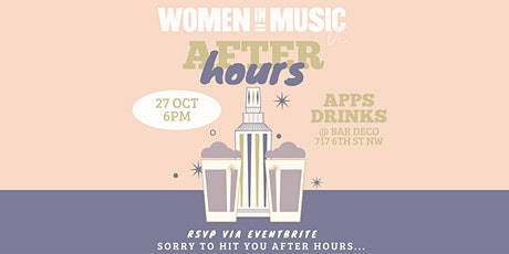 WIM DC: After Hours Apps + Drinks @ Bar Deco! tickets