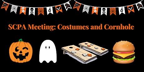 SCPA Meeting: Costumes & Cornhole tickets
