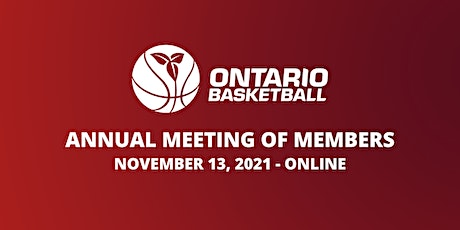Ontario Basketball Association - 2021 Annual Meeting of Members tickets