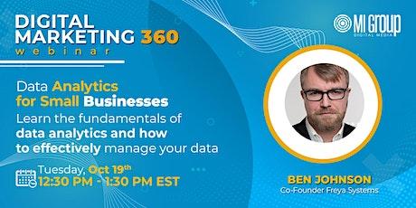 Marketing 360 Webinar: Data Analytics for Small Businesses tickets