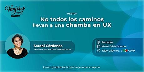 +Mujeres en UX México Reunión Virtual  Octubre 2021 boletos