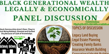 Flipping Black Generational Wealth Legally, Economically & Strategically tickets