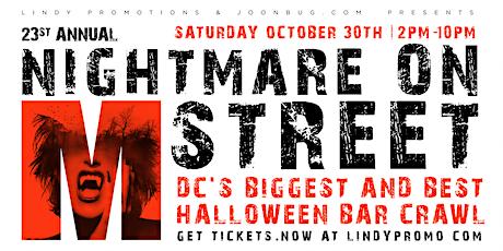 Nightmare on M Street Washington DC Halloween Bar Crawl 2021 by Lindypromo tickets