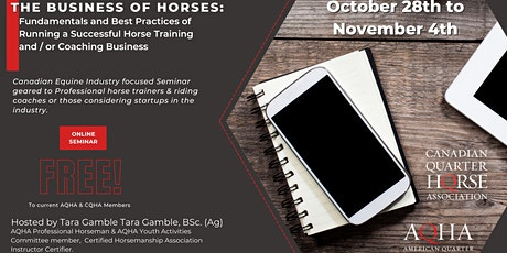 The Business of Horses: Fundamentals and Best Practices tickets