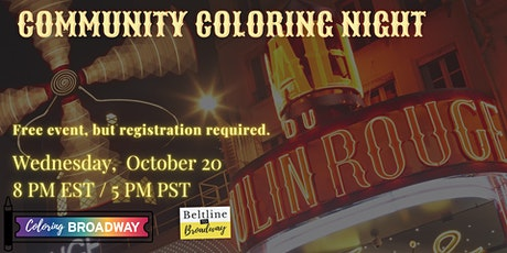Community Coloring Night (Moulin Rouge) tickets