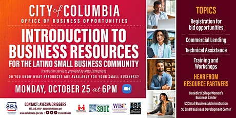 Introduction to Business Resources for the Latino Small Business Community tickets