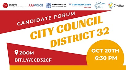 City Council District 32 - Candidate Forum tickets