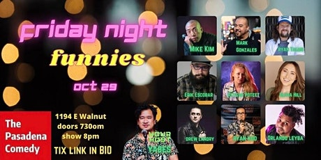 Friday Night Funnies hosted by John Yabes  - 10/29 at 8pm tickets