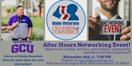 Idaho Veterans Chamber of Commerce - After Hours Networking tickets