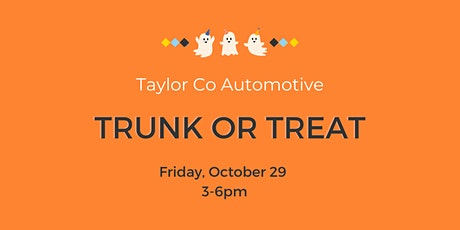 Trunk or Treat @ Taylor Co Automotive tickets