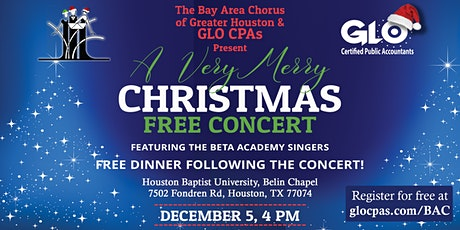 Very Merry Christmas Free Concert and Meal with Bay Area Chorus tickets