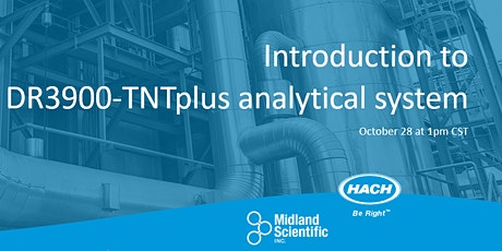 Introduction to Hach DR3900-TNTplus analytical system Webinar tickets