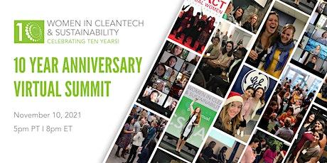 Women in Cleantech: 10 Year Anniversary Summit tickets