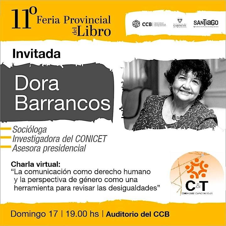 """Imagen de Charla Virtual  con Dora Barrancos """"Comunicacion y perspectiva de genero"""""""