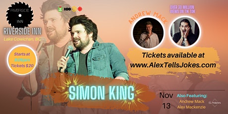 Stand up Comedy with International Headliner Simon King! tickets