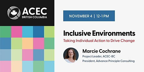 Inclusive Environments: Taking Individual Action to Drive Change tickets