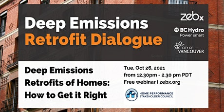 Deep Emissions Retrofits of Homes: How to Get It Right tickets