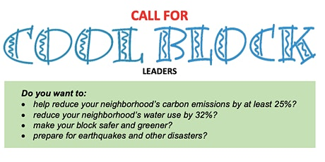 Cool Block Cafe - Join LA's Cool City Challenge Team & fight climate change tickets