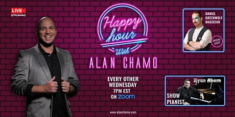 Happy Hour with Alan Chamo  | featuring  Magician Daniel Greenwolf tickets