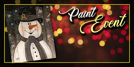 Snowman on Wood Painting Event tickets