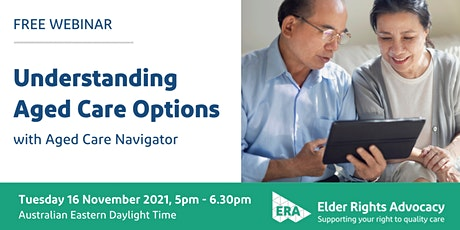 Understanding Aged Care Options tickets