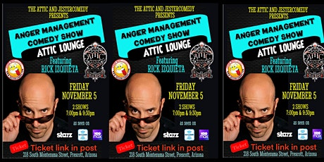 Anger Management presents Rick Izquieta as seen on Starz and HBO Max tickets