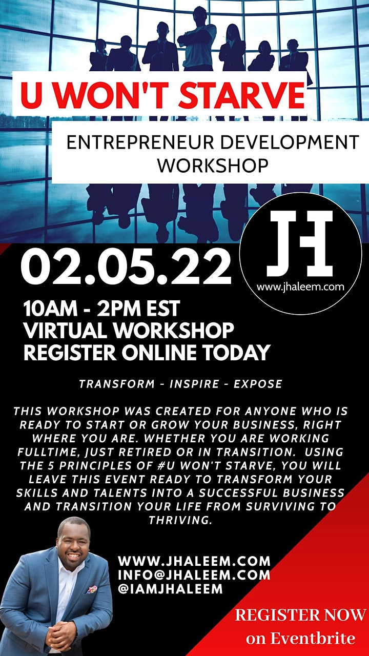 U Won't Starve - Entrepreneur Development Workshop image