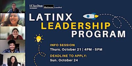 Basement Blackstone Latinx Leadership Info Session tickets