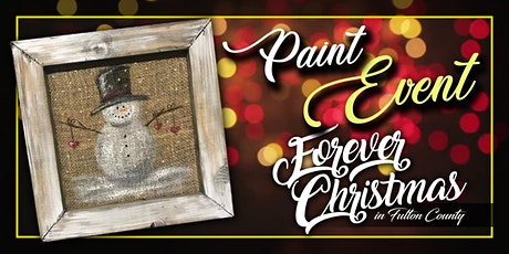 Forever Christmas Snowman Burlap Paint Event @ Needle in the Haystack, LLC tickets