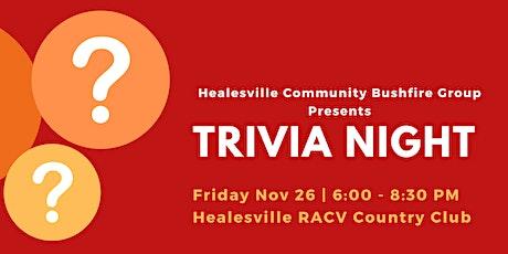 Healesville Community Trivia Night tickets