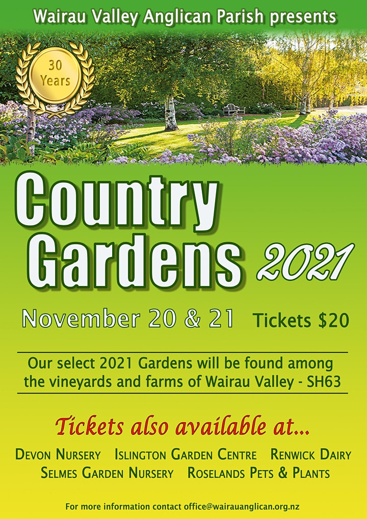Wairau Valley Country Garden Visits image