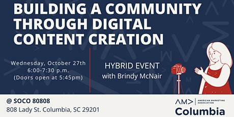 Building a Community through Digital Content Creation tickets