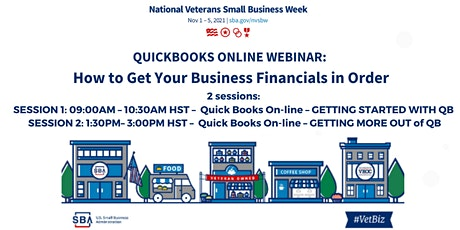QUICKBOOKS ONLINE WEBINAR:  How to Get Your Business Financials in Order tickets