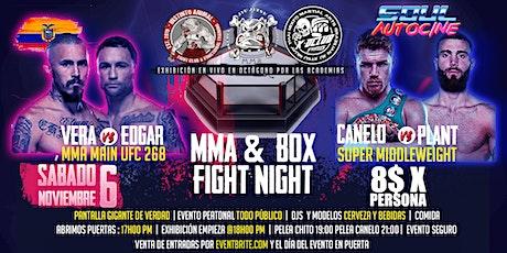 Proyección MMA y Box mas exhibición MMA en vivo tickets