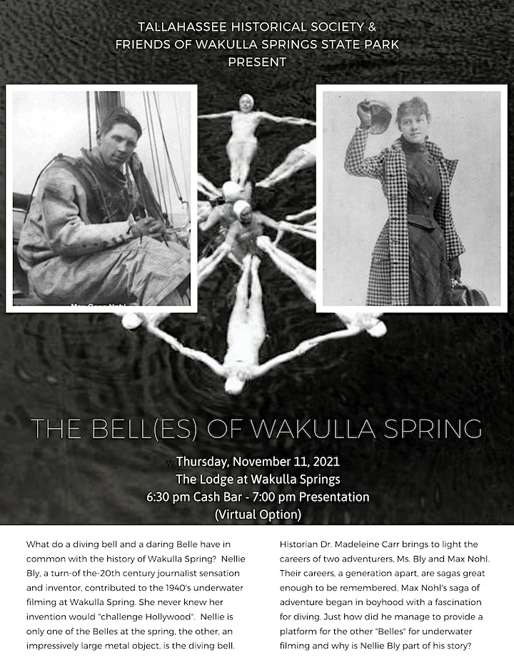 The Bell(es) of Wakulla Spring -  a Talk by Dr. Madeleine Carr image