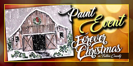 Forever Christmas Winter Farm Paint Event @ Needle in the Haystack, LLC tickets