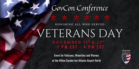 GovCon Conference for Veterans, Minorities and Women tickets