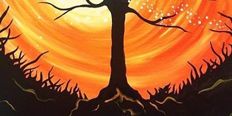 Halloween Landscape Tree, Painting with Acrylics, Adults Class tickets
