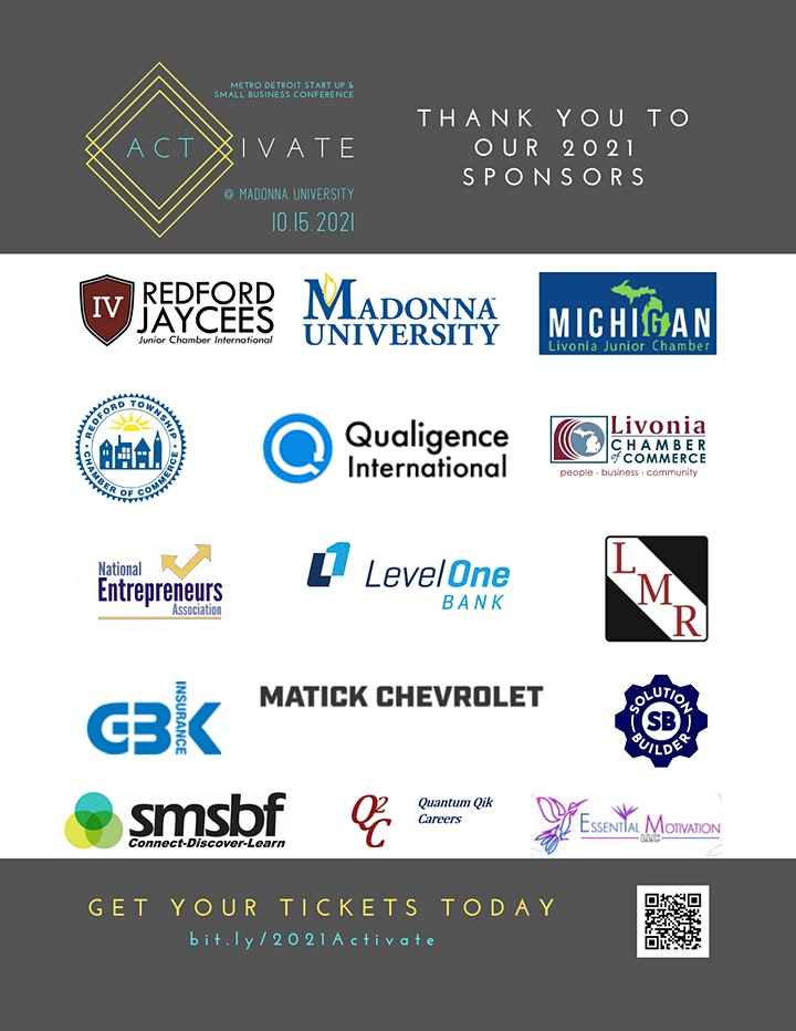 Activate: Metro Detroit Start Up & Small Business Conference image