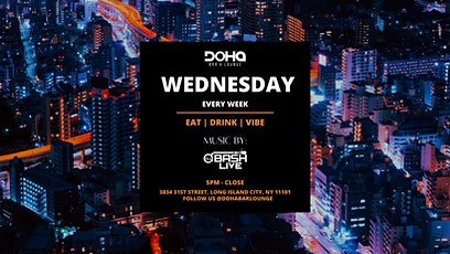 Wednesday Afterwork Happy Hour at Doha Bar and Lounge tickets