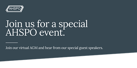 AHSPO AGM and Special Event tickets