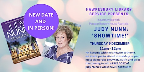 UPDATE!!! NEW TIME AND IN PERSON!  Judy Nunn- SHOWTIME! tickets