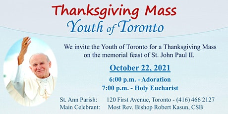 Thanksgiving Mass – Youth of Toronto tickets