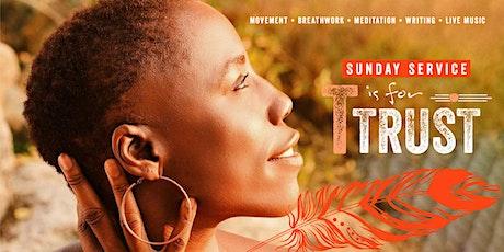 "SoulJour Sunday Service on ""Trust"": Yoga, Meditation, Writing & Live Music tickets"