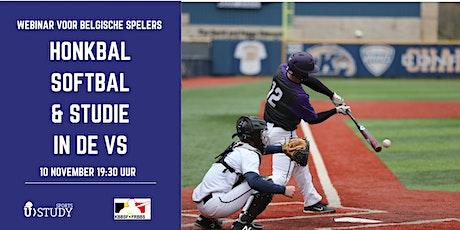 Free webinar Baseball & Softball and  Study  in the USA - Belgian players tickets