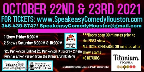 Speakeasy Comedy Lounge 10/22 & 10/23 tickets